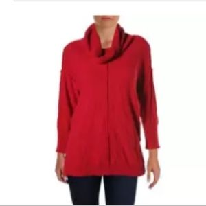 Vince Camuto Red Cowl Neck Sweater Large
